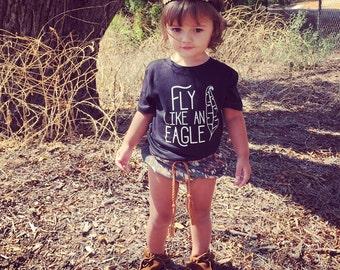 Fly Like An Eagle Kid's T-Shirt Boho Tee