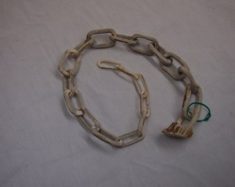 Hand-carved Deer Antler Chain