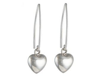 Silver Earrings - Heart