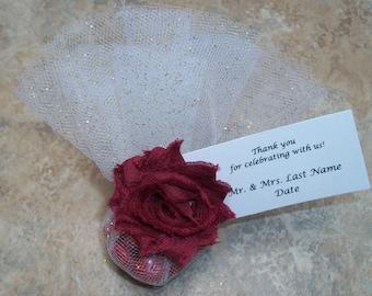 10 Handmade Italian Shabby Chic Wedding Favors!  Choice of Color. Tradition-Italian-Wedding-Shower-Baby-Birthday-Christmas