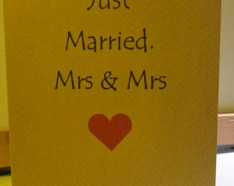 Just married/congratulations/lesbian/gay/love/couple/wedding