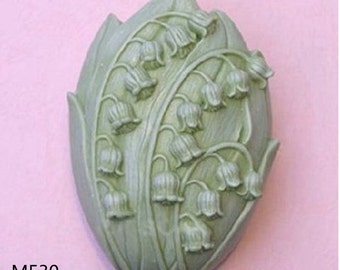 Lily of the valley Soap Mold,Silicone Mold,Handmade Soap Mould,M530