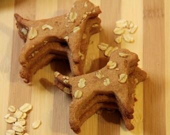 Healthy Homemade Dog Treats Grain Free Peanut Butter Blueberry Cranberry Oatmeal Bone shaped treats
