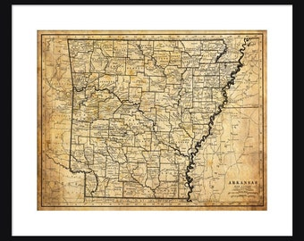 Arkansas  Map - Print - Poster