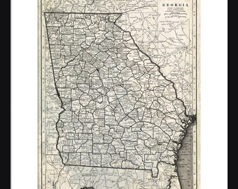 Georgia Map - Print - Poster