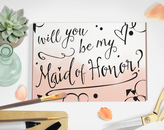 Maid of Honor Ask Card- PDF Download