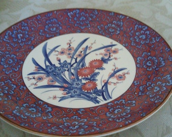 Lovely Vintage Platter - Made in Japan - 1940's (?) Imari Meiji period. Reduced for Christmas sale!