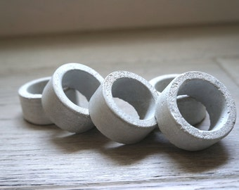 Concrete Napkin Rings, Set of 2/Set of 4/Set of 6/Set of 8