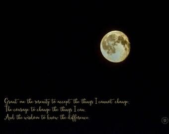 recovery quote & photo: serenity prayer