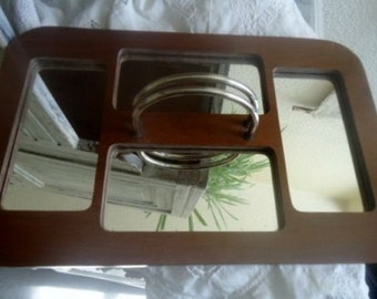 Art deco tray,vintage tray with mirrors,period 1950