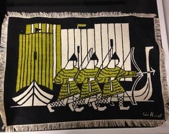 Vintage Liv Hassel Textile - Ancient Soldiers