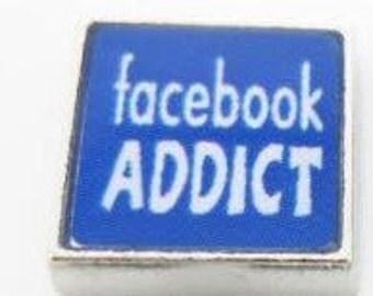 Facebook Addict Charm