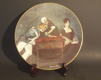 """Norman Rockwell """"The President's Wife""""-Limited Edition Plate"""
