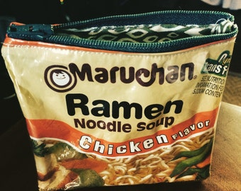 Ramen Noodle Zipper Pouch