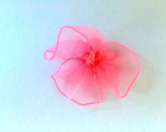 Bubblegum Pink Fabric Flower Trim