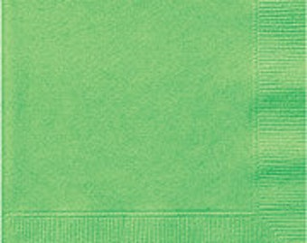 Lime Green Luncheon Paper Napkins 2 Ply 75ct