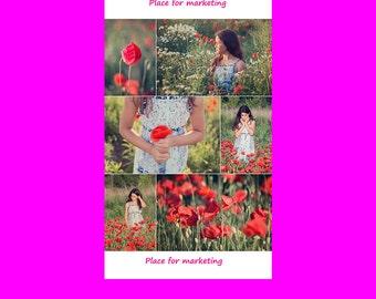Photoshop Collage Templates - Photo Collage Templates - Storyboard Templates - PSD Templates - Photography Photo Templates