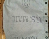 Vintage U.S. Mail domestic canvas bags Industrial decor