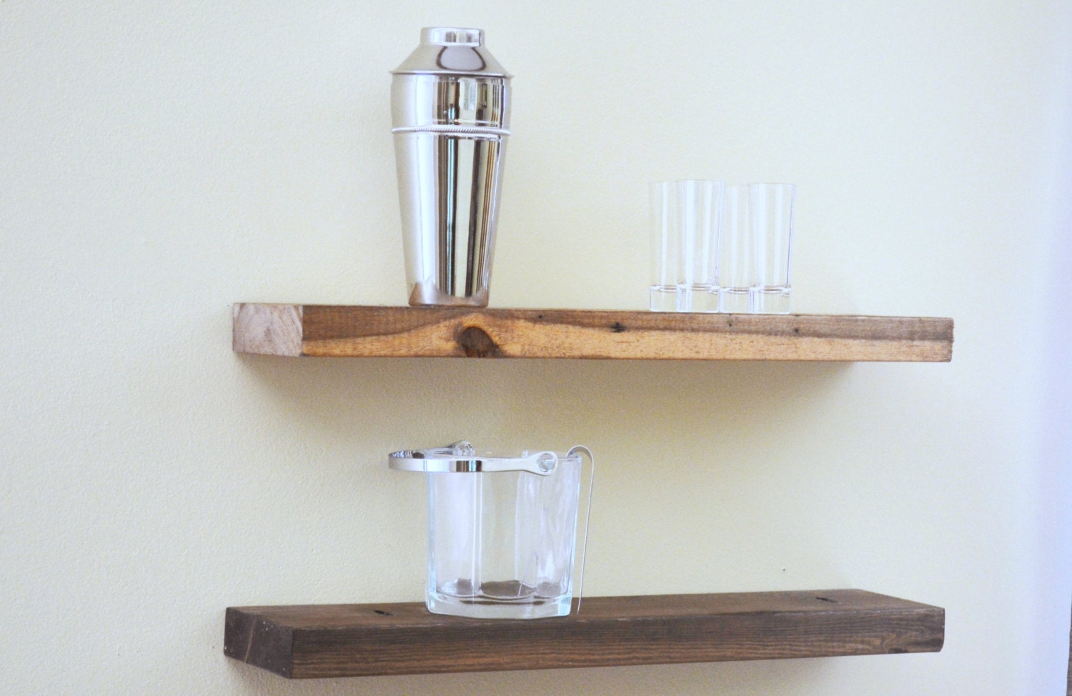 Floating Wood Shelves ~ Floating shelf rustic ledge wooden