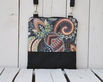 Colorful Crossbody bag, Printed bag, Festival Wear, Teenager Bag, Small Shoulder Bag, Women Fashion Bag, Canvas Cross Body Bag, Bohemian Bag