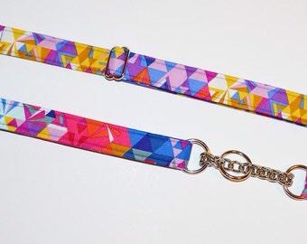 Dog Collar, Fashion Collar, Multi-Colors, Martingale Dog Collar, Boy, Girl, Geometric, Metal Hardware