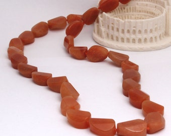 Delny Designer red aventurine necklace