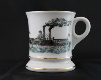 Steam Boat themed Shave Mug