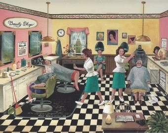 Beauty Shop 1940's 1950's