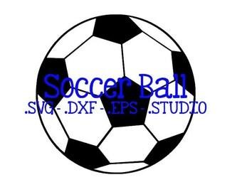 Soccer Ball Cut File - Soccer Ball Clip Art - Soccer Ball SVG - Soccer Ball DXF - Soccer Ball EPS - Soccer Ball Silhouette Studio File