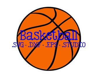 Basketball Cut File - Basketball Clip Art - Basketball SVG - Basketball DXF - Basketball EPS - Basketball Silhouette Studio File