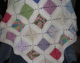Colorful Handmade Baby Afghan