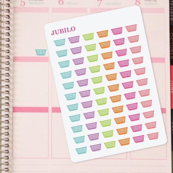 Planner Stickers Laundry Basket From Plannerstickerjubilo