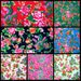 Cotton Northeast Phoenix Peony Pattern Fabric, Rich Color Ethnic Floral Cloth