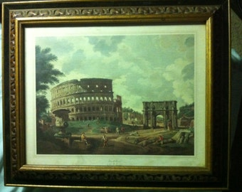 The Roman Colliseum-A View of Rome, by G.P.Paninni-Italian Print