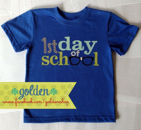 First Day of School nerd glasses Back to School tee