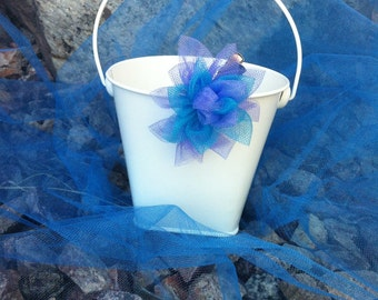 Blue and purple flower barrette
