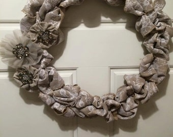 Lace Wreath with Bling