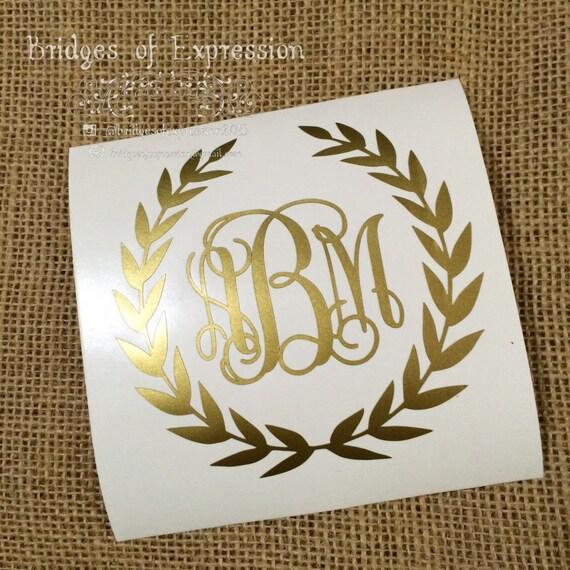 metallic gold laurel wreath fancy vine by bridgesofexpression