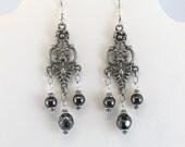 Black Hematite boho earrings