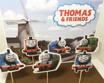 Thomas Train cupcake topper, party supplies decoration, theme cupcake, birthday cupcake toppers, Thomas and friends inspired