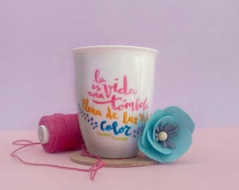 Custom calligraphy mugs