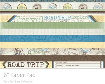 "KaiserCraft Pack Your Bags 6"" Paper Pad Collection"