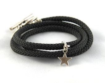 Sailing rope with toggle clasp bracelet