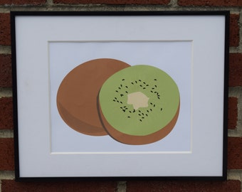 Kiwi Fruit Art - Instant Downloadable Digital Print
