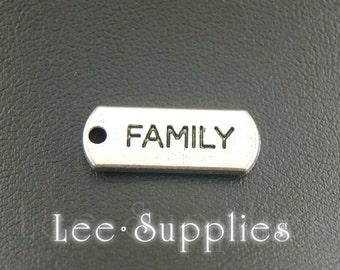 30pcs Antique Silver Alloy Family Letter Charm Charms Pendant A1610