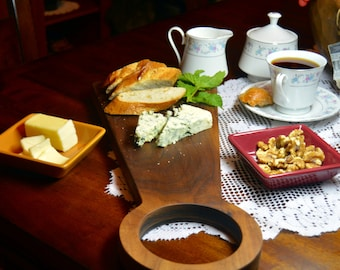 Walnut Wooden Serving Platter, Bread and Cheese Tray, Fruit Platter