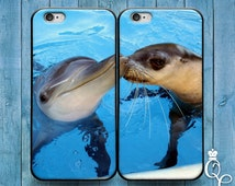 iPhone 4 4s 5 5s 5c SE 6 6s plus iPod Touch 4th 5th 6th Gen Cute Best Friend Couple Bf Gf Kiss Phone Case Funny Dolphin Baby Seal Cover