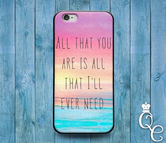 iPhone 4 4s 5 5s 5c SE 6 6s 7 plus iPod Touch 4th 5th 6th Gen Cover Cute Case Quote Beach Lyric Romantic Couple Gf Bf Wife Hubby Ocean Sand