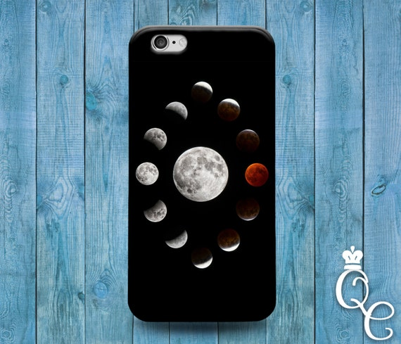 iPhone 4 4s 5 5s 5c SE 6 6s 7 Plus iPod Touch 4th 5th 6th Gen Lunar Moon Collage Cover Cute Space Black Phone Case Astrology Astronomy