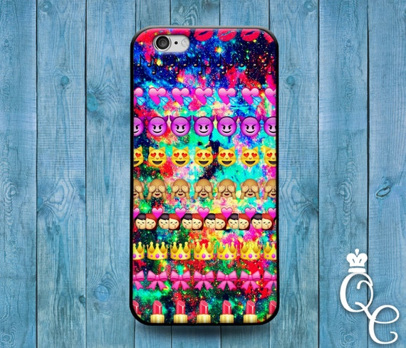 iPhone 4 4s 5 5s 5c SE 6 6s 7 plus iPod Touch 4th 5th 6th Generation Phone Custom Emoji Collage Case Cute Funny Girl Boy Galaxy Space Cover